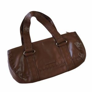BCBGMaxAzria Brown Leather East West Shoulder Bag